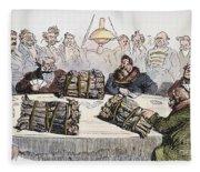 Russian Cartoon, 1854 Fleece Blanket