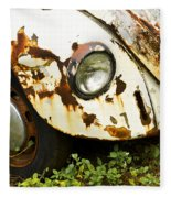 Rusted Volkswagen Fleece Blanket