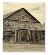 Rustic Charm Sepia Fleece Blanket