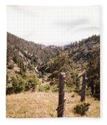 Rustic Fence Fleece Blanket
