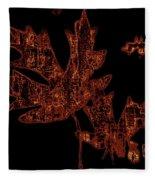 Rustic Leaves Fleece Blanket