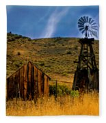 Rustic Windmill Fleece Blanket