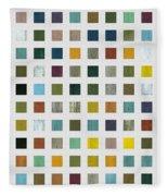 Rustic Wooden Abstract V Fleece Blanket