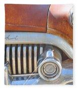 Rusty Abandoned Old Buick Eight Fleece Blanket