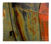Rusty Abstract Fleece Blanket