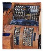 Rusty Cash Register Fleece Blanket