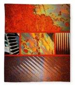 Rusty Metal Canvas Fleece Blanket