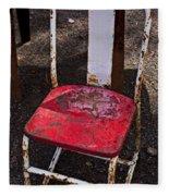 Rusty Metal Chair Fleece Blanket