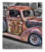 Rusty Old Truck  Fleece Blanket