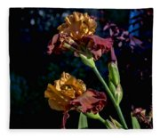 Rusty Petals Fleece Blanket