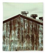 Rusty Tin Factory Building Fleece Blanket