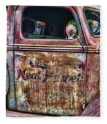 Rusty Truck Door Fleece Blanket