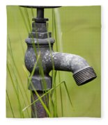 Rusty Water Supply Point Fleece Blanket