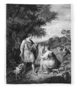 Ruth & Boaz Fleece Blanket