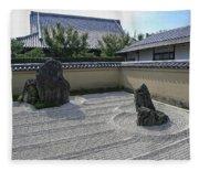 Ryogen-in Raked Gravel Garden - Kyoto Japan Fleece Blanket