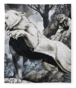 Sabre-toothed Tigers Fleece Blanket