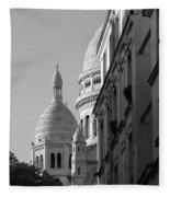 Sacre Coeur View Fleece Blanket