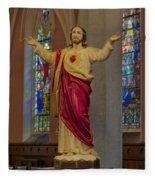 Sacred Heart Of Jesus Fleece Blanket