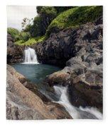 Sacred Pool Falls Fleece Blanket