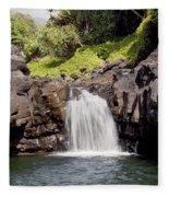 Sacred Pool Waterfall Fleece Blanket