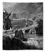 Sadler: Fishing, 1875 Fleece Blanket
