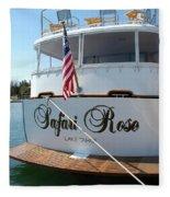 Safari Rose Lake Tahoe Fleece Blanket