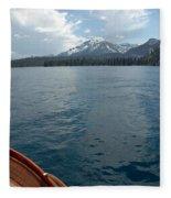 Safari Rose.on Lake Tahoe Fleece Blanket