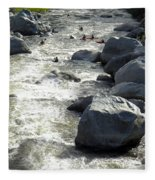 Safely Through The Boulders Fleece Blanket