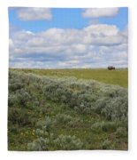 Sagebrush And Buffalo Fleece Blanket