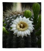 Saguaro Cactus Blooms  Fleece Blanket