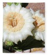Saguaro Cactus Flowers Fleece Blanket