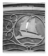 Sailboat On The Boathouse Fleece Blanket