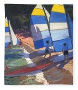 Sailboats South Of France Fleece Blanket