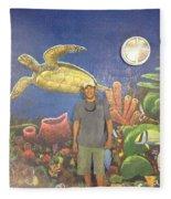 Sailfish Splash Park Mural 7 Fleece Blanket