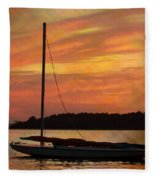 Sailin' On Dewey Fleece Blanket