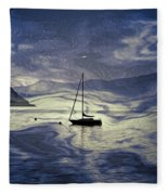 Sailing Boat Fleece Blanket