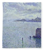 Sailing Boats In An Estuary Fleece Blanket