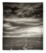 Sailing Boats Fleece Blanket