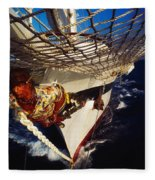Sailing, Figurehead On The Prow Of A Fleece Blanket