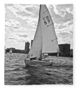 Sailing On The Charles Fleece Blanket
