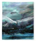 Sailing Over The Sea Fleece Blanket