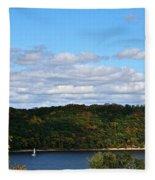 Sailing Summer Away Fleece Blanket