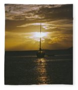 Sailing Sunset Fleece Blanket
