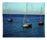 Sailing The Blue Waters Of Greece Fleece Blanket