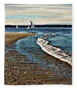 Sailing The Puget Sound Fleece Blanket