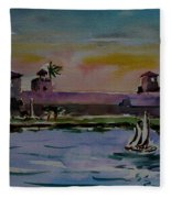 Sailing To The Spanish Fort Fleece Blanket