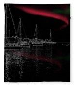Sailing Under Strange Lights Fleece Blanket