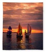 Sailing Yachts Fleece Blanket