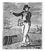 Sailor, 18th Century Fleece Blanket