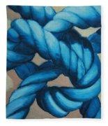 Sailor Knot 8 Fleece Blanket